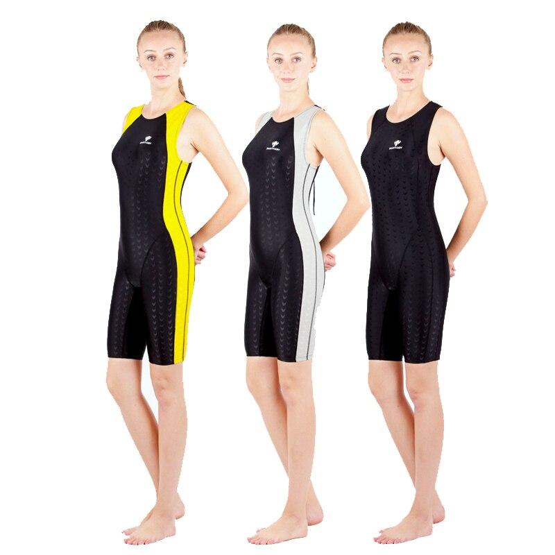 Женский слитный купальный костюм Fanceey, монокини большого размера, купальник Sharkskin, для соревнований, 2019