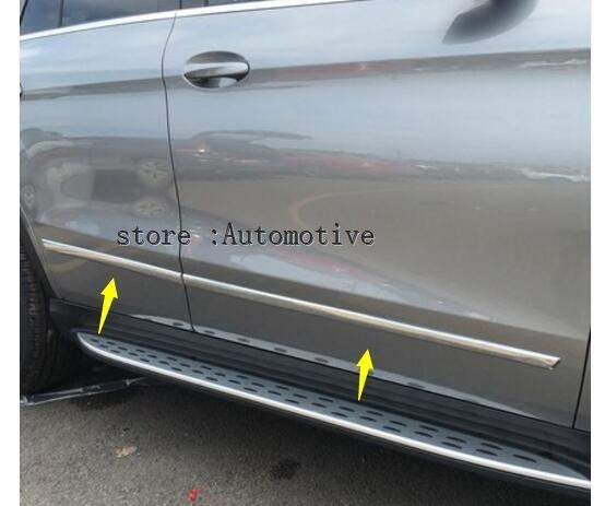 Chrome Lateral Side Door Body Molding Cover Trim Strip Plate For Mercedes Benz GLE Class W166
