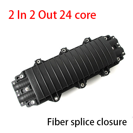 2 Into 2 Out 24 Core Splice Boxes Fiber Optic Waterproof Terminal Box
