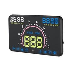 2017 New Car HUD Head Up Display OBD Velocímetro Coche GPS velocidad del coche Pantalla de proyector con OBD2 y EUOBD coche detector