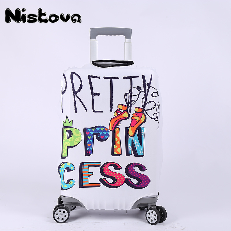 Letter/Animal Print Luggage Cover Travel Accessories High Quality Thick Elastic Suitcase Cover Travel Trolley Protective Covers