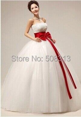 Vestidos para novia blanco con rojo