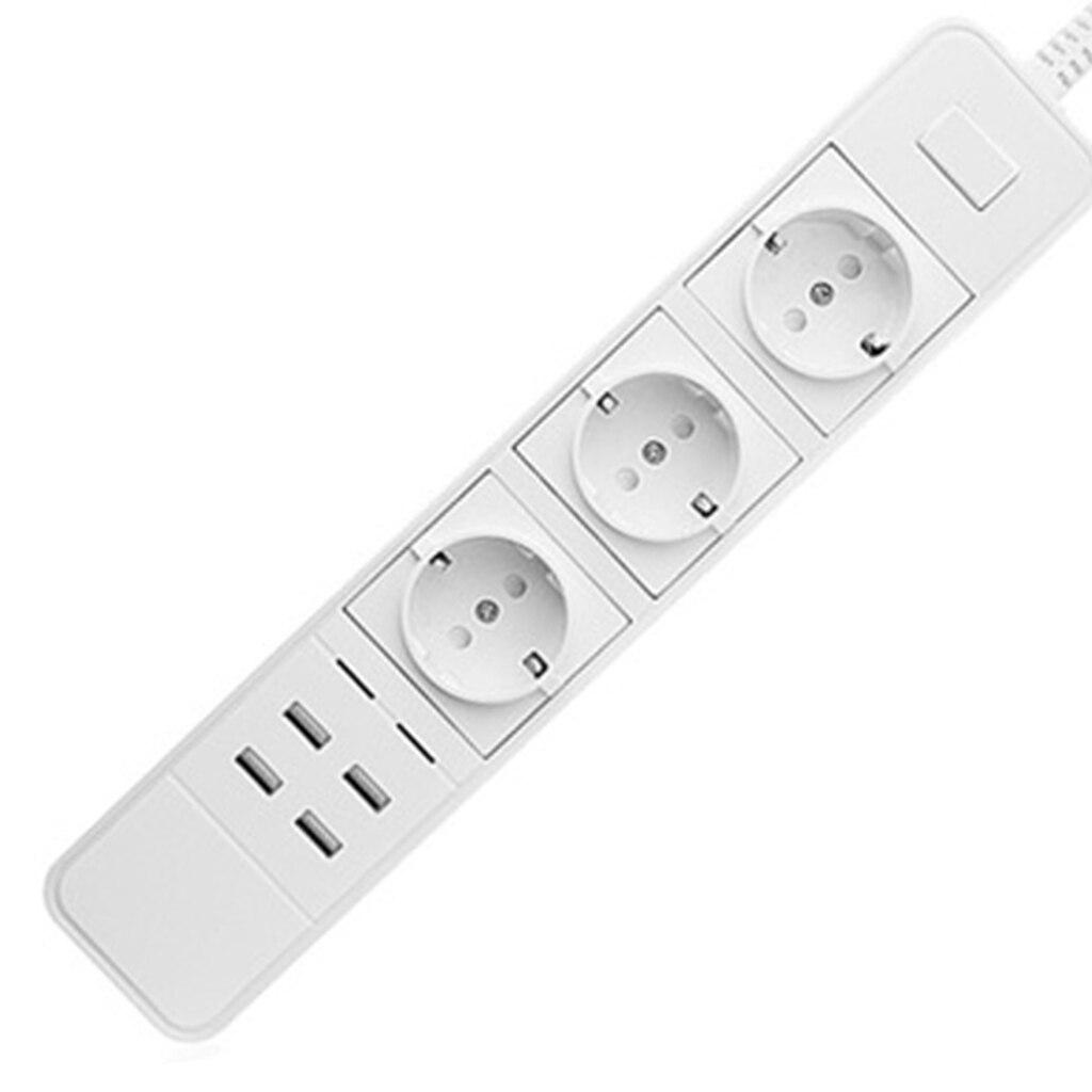 Prises multiprises intelligentes EU UK prise interrupteur de surcharge protection contre les surtensions APP contrôle 4 prises 4 ports USB chargeur 1.8M rallonge