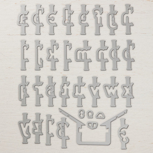 DiyArts Letter 34Pcs/Lot Alphabet Metal Cutting Dies Large Size Scrapbooking Embossing Cut Stencils DIY Cards Craft