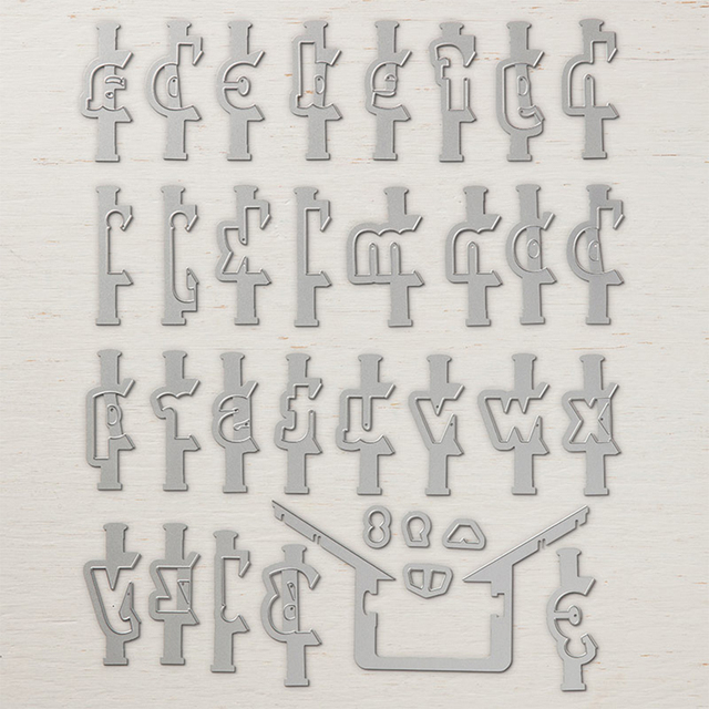 DiyArts 34Pcs/Lot Alphabet Letter Metal Cutting Dies Large