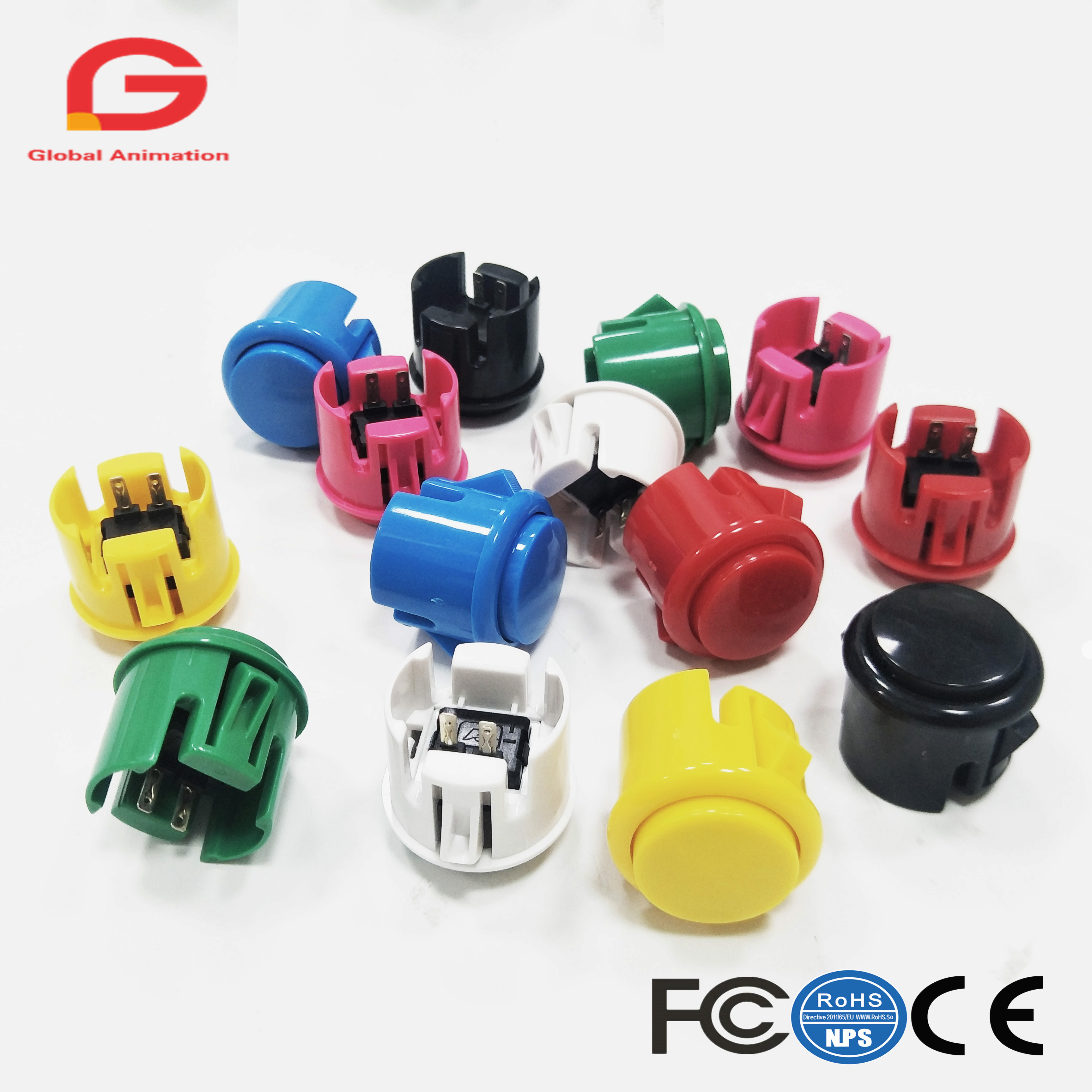 10x 30mm Arcade Push Buttons Switch Works For Arcade Joystick Fighting Stickers Machine PS2 PS3 Xbox 360 Games Parts image