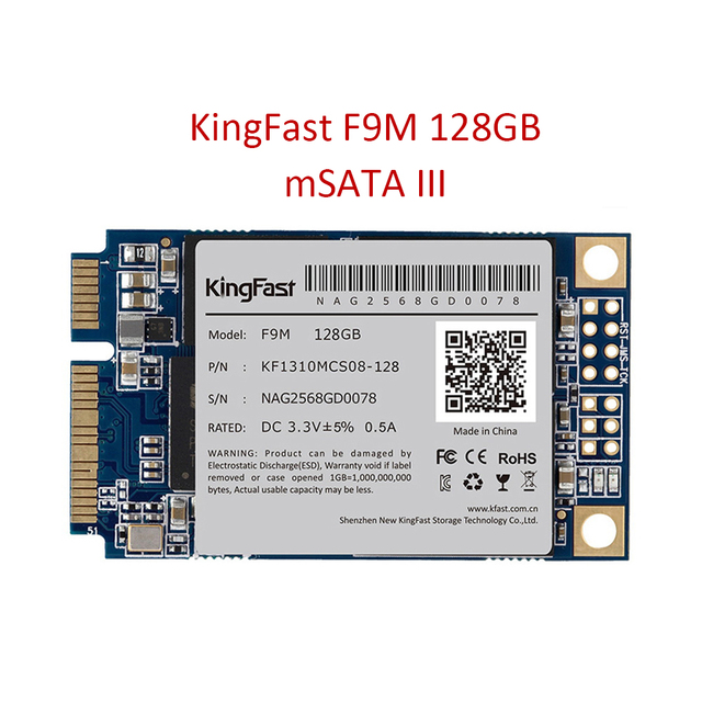 """SSD 128 ГБ Kingfast F9M mSATA3 SSD Жесткий Диск Для Компьютера 3.5 мм 1.3 """"Твердотельные Накопители"""