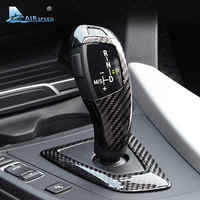 Airspeed Carbon Fiber Gear Shift Knob Cover for BMW F20 F21 F22 F23 F30 F34 F10 F11 F07 F18 F25 F26 F15 F16 F01 I8 Accessories