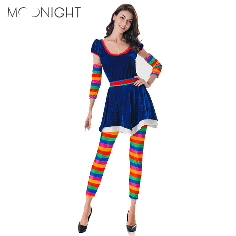 Moonight Halloween Costume For Women Sexy Halloween Party Blue Elf Costumes Outfit -1221