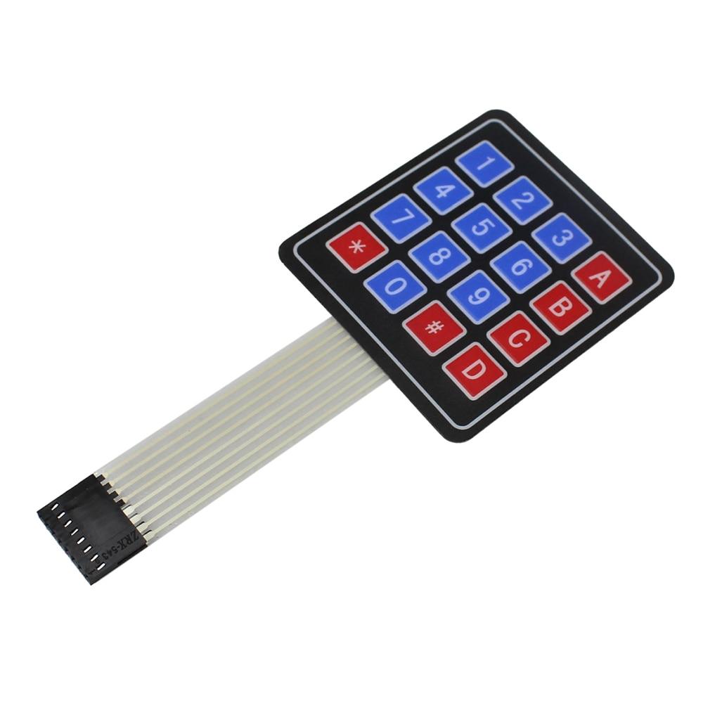 16 Key 4 x 4 Membrane Switch Keypad 4x4 4*4 Matrix Array Matrix Smart Car keyboard for arduino Diy Kit