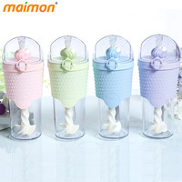 Brief Fashion Portable Plastic Mixer Bottle Cup With Lid Straw Office School Leakproof Milkshake Protein Powder