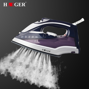 2400W Colorful Electric Steam Iron Adjustable Ceramic soleplate iron For Clothes Multifunction