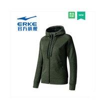 Erke women's authentic cardigan sweater autumn new breathable jacket jacket sports jacket women