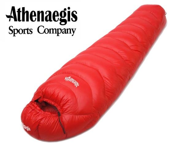 Athenaegis haute qualité 1200G/1500G duvet d'oie blanche de remplissage étanche confortable respirant sac de couchage