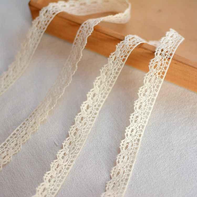 1 متر قماش الدانتيل البيج عالية الجودة شريط الدانتيل الزركشة لملحقات الخياطة tissu dentelle encajes para costura L-54
