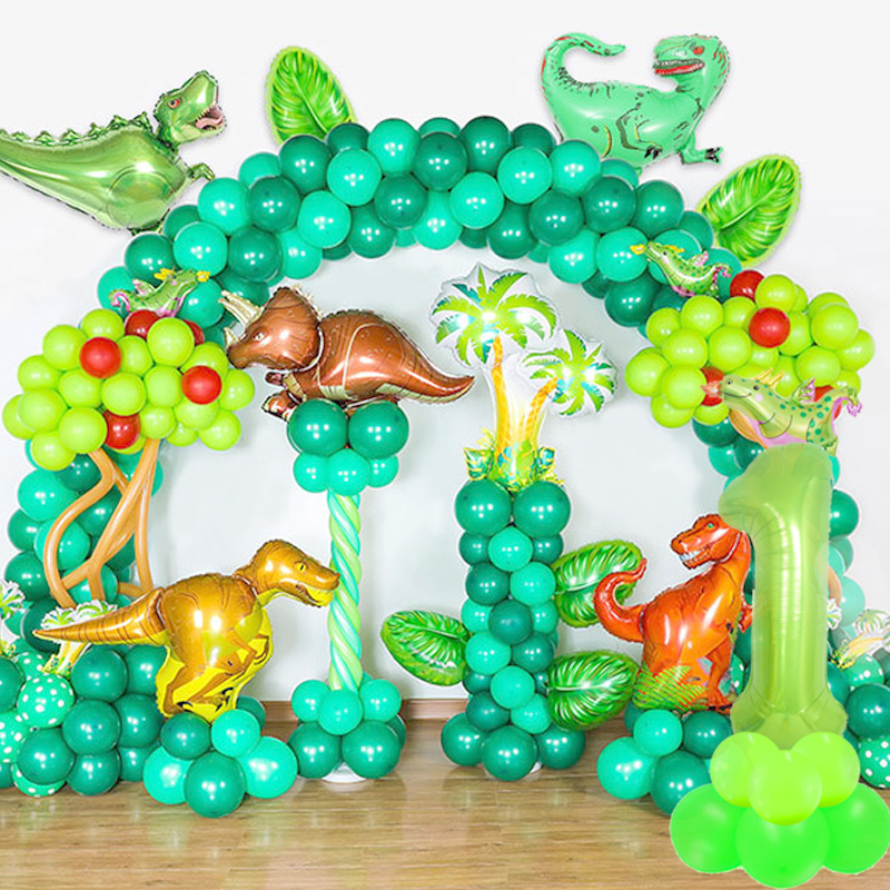 Image 3 - WEIGAO Dinosaur Party Decor Kids Dino Birthday Party Decor Disposable Paper Drinking Straws Kids Birthday Party Foil Balloons-in Disposable Party Tableware from Home & Garden