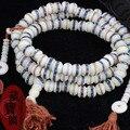 Тибетский драгоценности як кости буддизм 108 молитва бусины ожерелье браслеты мала для мужчин и женщин IB6413