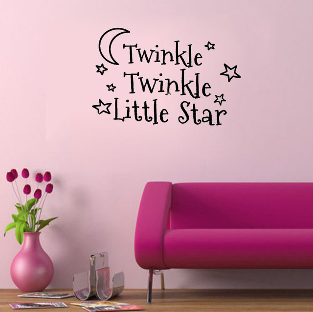 Sticker Quote Twinkle Twinkle Little Star Baby\'s Room decoration ...