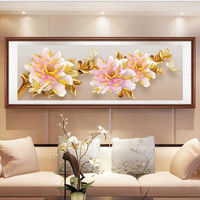 D SH Full Diamond Embroidery Peony Flower DIY 5D Diamond Painting Cross Stitch Kits Square/Round Diamond Mosaic Home Decoration