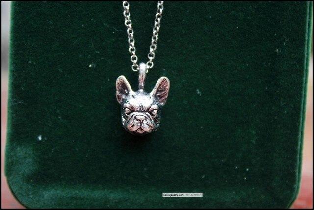 Купить ожерелье в стиле ретро хиппи французский бульдог панк цвет черный картинки