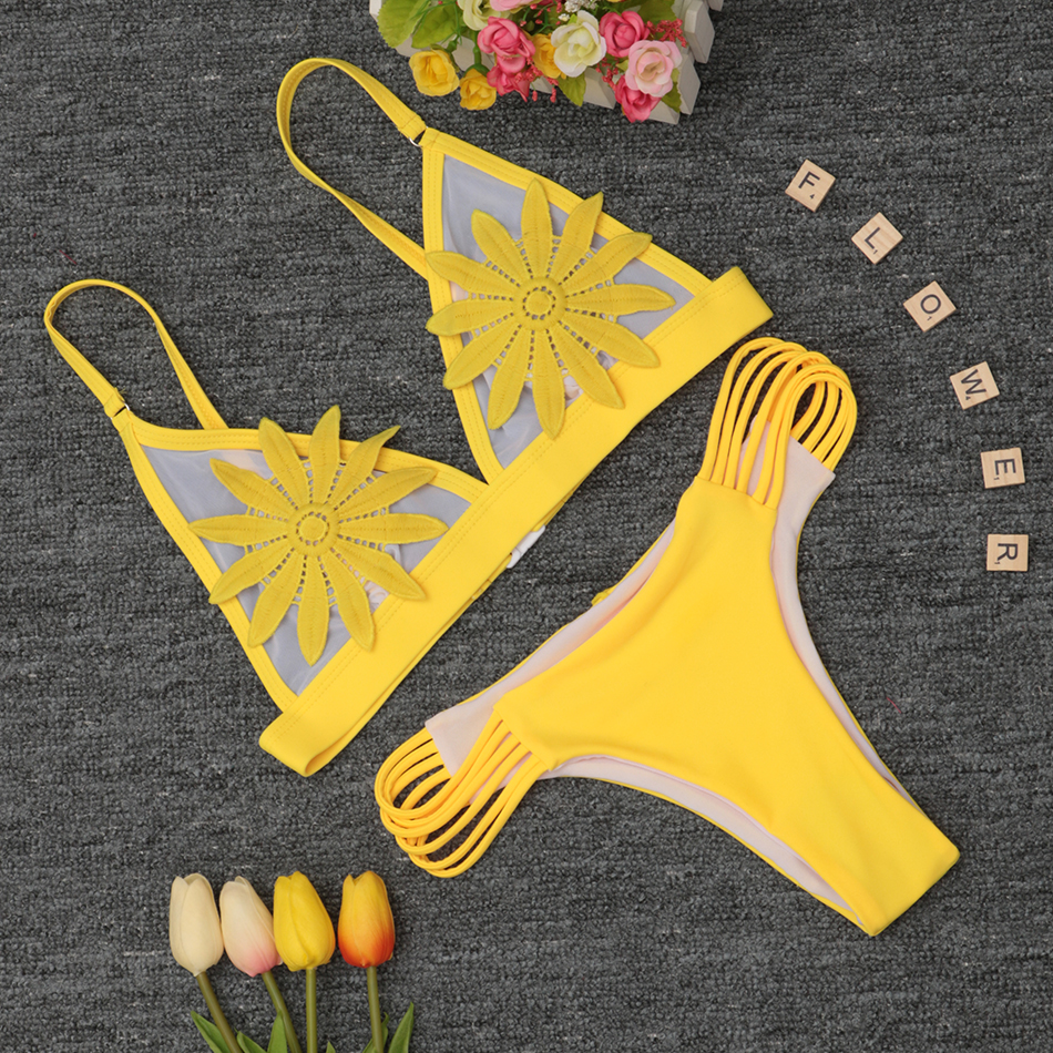 2018 New Bandage Bikini Sexy Swimwear Women Swimsuit Push Up Bikini Set Brazilian Bathing Suits Beach Wear Maillot De Bain Femme 3