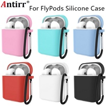Soft Silicone Shockproof Cover With Carabiner For HUAWEI Honor FlyPods/FlyPods Pro Earphone Protector Case