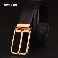 Men S Classical Fashion Dress Belt Genuine Leather High Quality Buckle Strap Luxury Belt For Men
