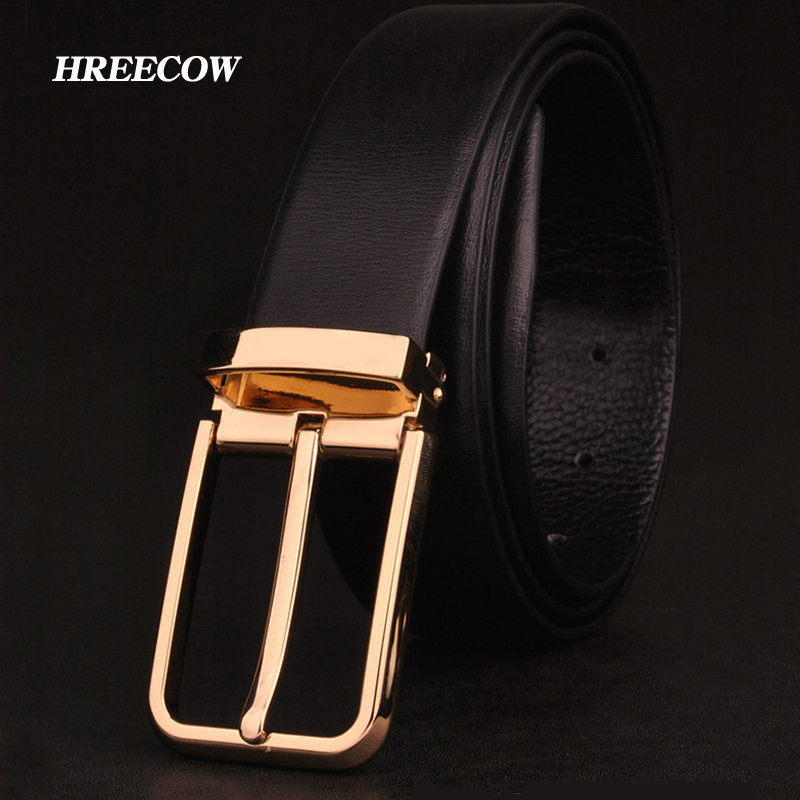 d9bfa3d9b52 Detail Feedback Questions about Men s Classical Fashion Business Belts  Genuine Leather Belt High Quality Pin Buckle Strap Luxury designer Male Belt  For Men ...