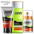 Bioaqua Control de aceite hombres cuidado de la piel 3 unids establece hidratante hidratante reducir los poros tratamiento del acné hidratación profunda belleza maquillaje