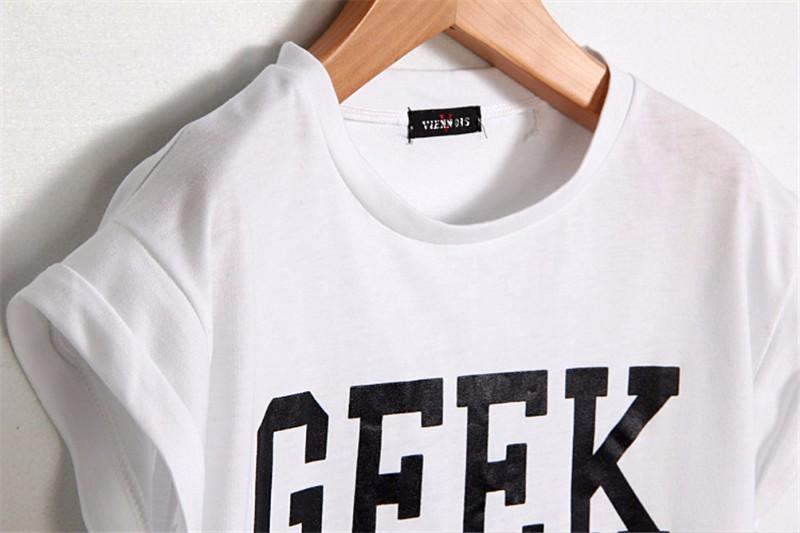 HTB1p.6.KXXXXXc9XXXXq6xXFXXXd - Summer Style Geek Letter Print T Shirt Women