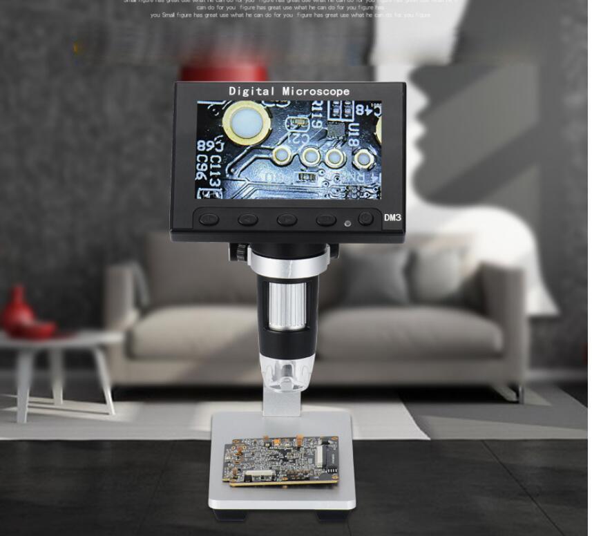 """Портативный 600X3,6 MP, цифровой микроскоп 4,"""" lcd электронный HD видео микроскопы USB эндоскопическая увеличительная камера Al-alloy Stent"""