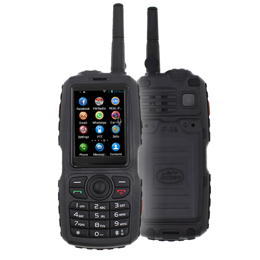A17 WCDMA/GSM 3G Radio IP67 Water proof Mobile Phone PTT Walkie Talkie Smartphone Dual SIM work with Zello PTT F22 F25