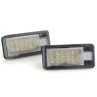 2piece White 18 LED 3528 SMD License Plate Lights Lamps Bulbs For AUDI A3 8P A6