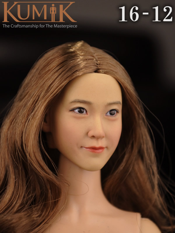 KUMIK 16-12 1:6 Scale female Figure accessories head shape carved for 12 Action figure doll,not include clothes;body and other cheap hot 1 6 kumik fs 16 female shoes boots black color for 12 figure body toys accessories