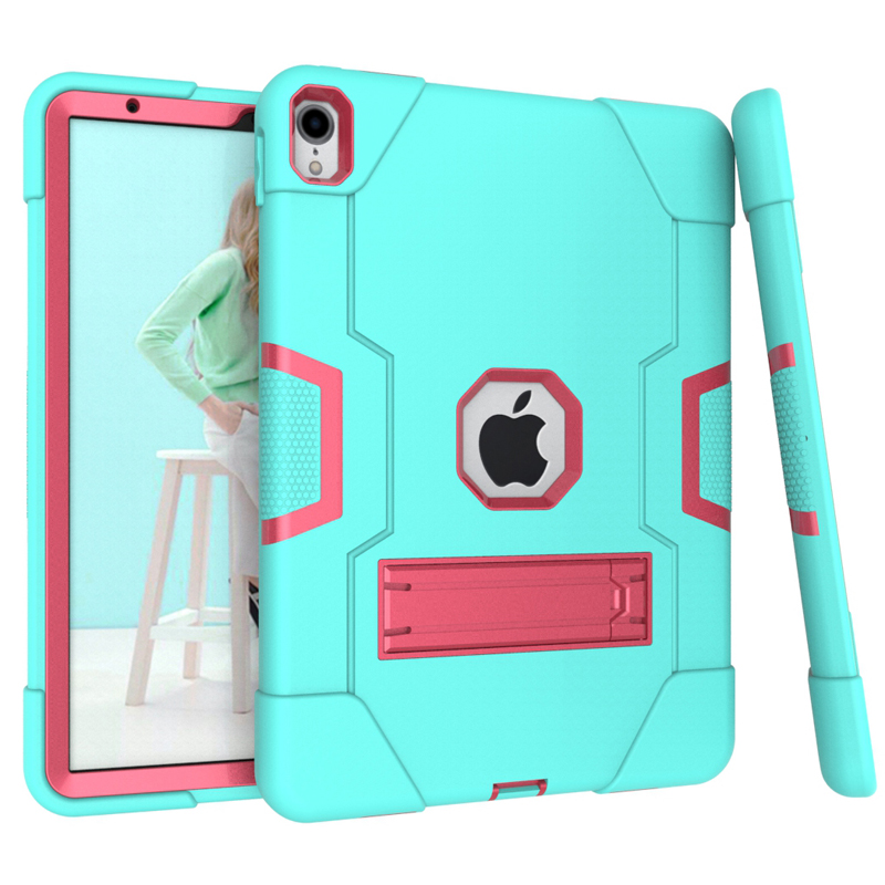 Dual Layers PC+TPU Tablet PC Cases For IPad Pro 11 Inch Contrast Color 3-in-1 Shock Proof
