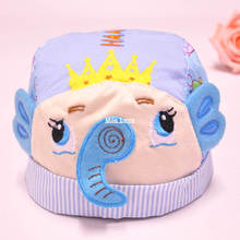 2015 spring new Baby hats Cartoon Elephant  crown hat infant baby cotton fetal cap MZ0035