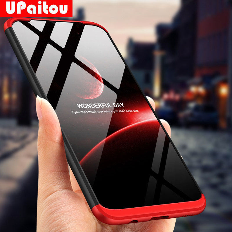 UPaitou Full Cover Cases For Samsung Galaxy A10 A20 A30 A40 A40S A50 A60 A70 Case Luxury 3in1 Hard PC Cover Galaxy A70 Case