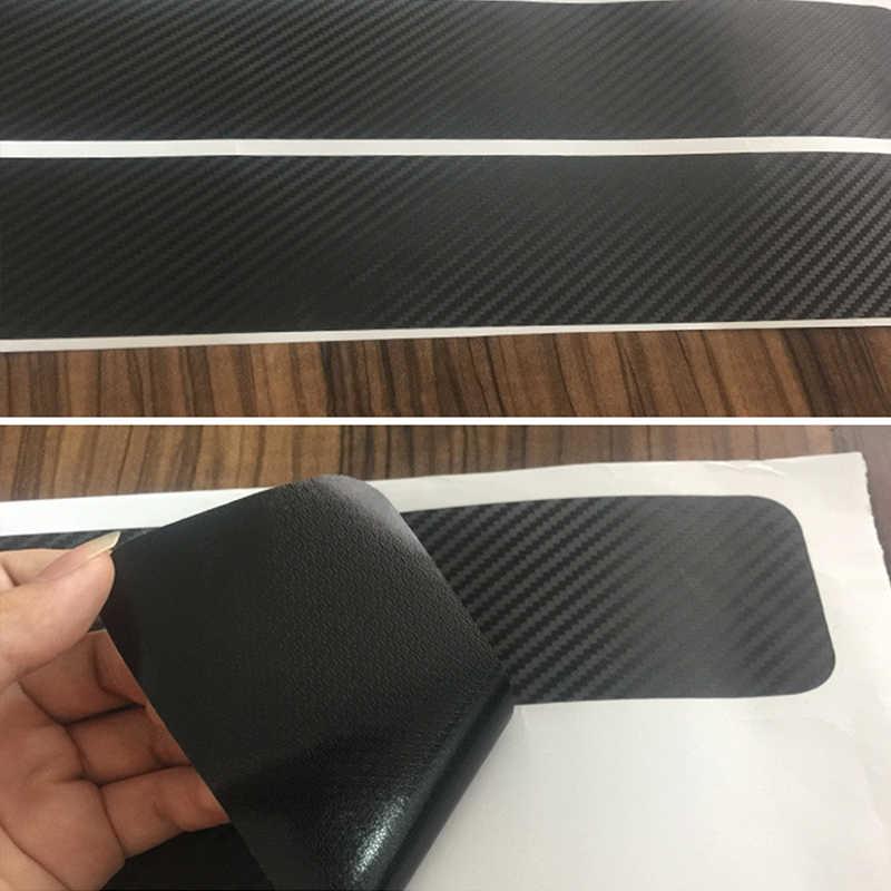 Protetor do peitoril da porta do carro universal adesivo filme 4 pçs anti risco de carbono scuff pedal guardas capa placa do peitoril da porta fibra adesivo