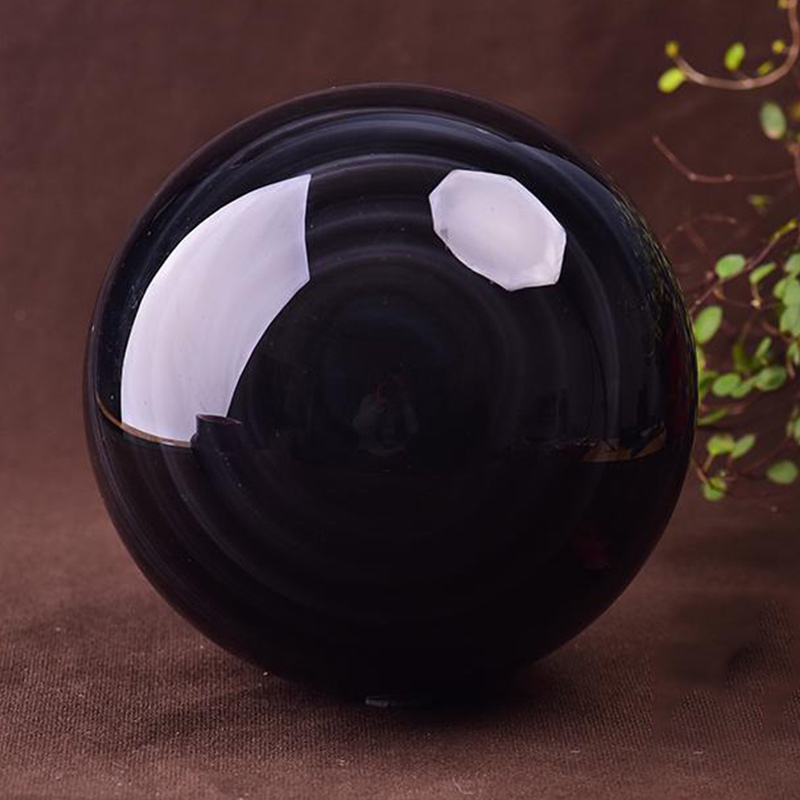 30mm Crystal Ball Healing Stone Obsidian Sphere Desktop Home Decorative Tools With Base Large Quartz Glass Balls Decoration Crafts