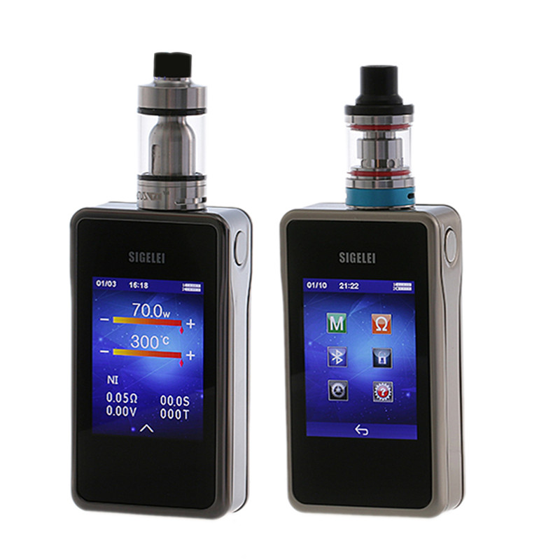 Sigelei T200 TC Box Mod e electronic cigarette mod 2.4 touch screen Design and APP Bluetooth connection 200W superpower no tank