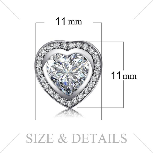 Heart CZ Stud Earrings