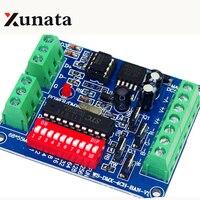 DC5V-24V Decodificador DMX RGBW LLEVÓ la tira controlador de luz, fácil de $ number canales DMX512 decodificador, fácil de control DMX de Envío Gratis
