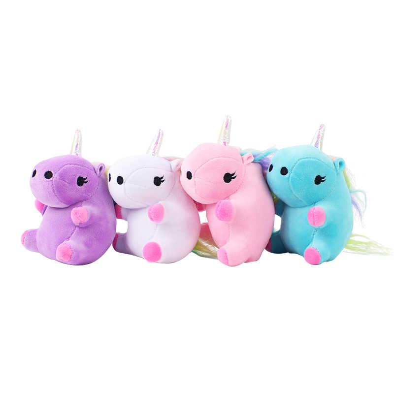 4 стиля плюшевая игрушка единорог Единорог Лошадь мягкая кукла детская кровать время Единорог белые пластиковые контейнеры для крема брелок Подвески