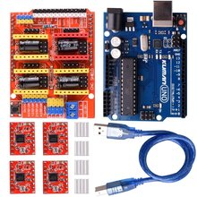 Miroad CNC Shield Expansion Board V3.0 +UNO R3 Board + A4988 Stepper Motor Driver With Heatsink for Arduino Kits K75