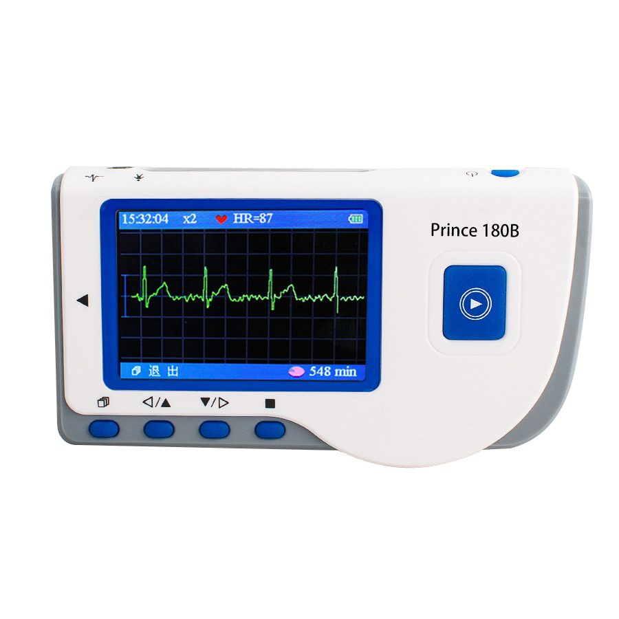 CE Approved Prince 180B Handheld ECG EKG Portable Monitor Electrocardiogram LCD heal force prince 180b blue color portable heart ecg monitor electrocardiogram contain ecg lead wire