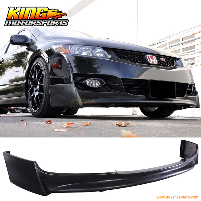 honda civic dr coupe p style front bumper lip spoiler bodykit  bumpers