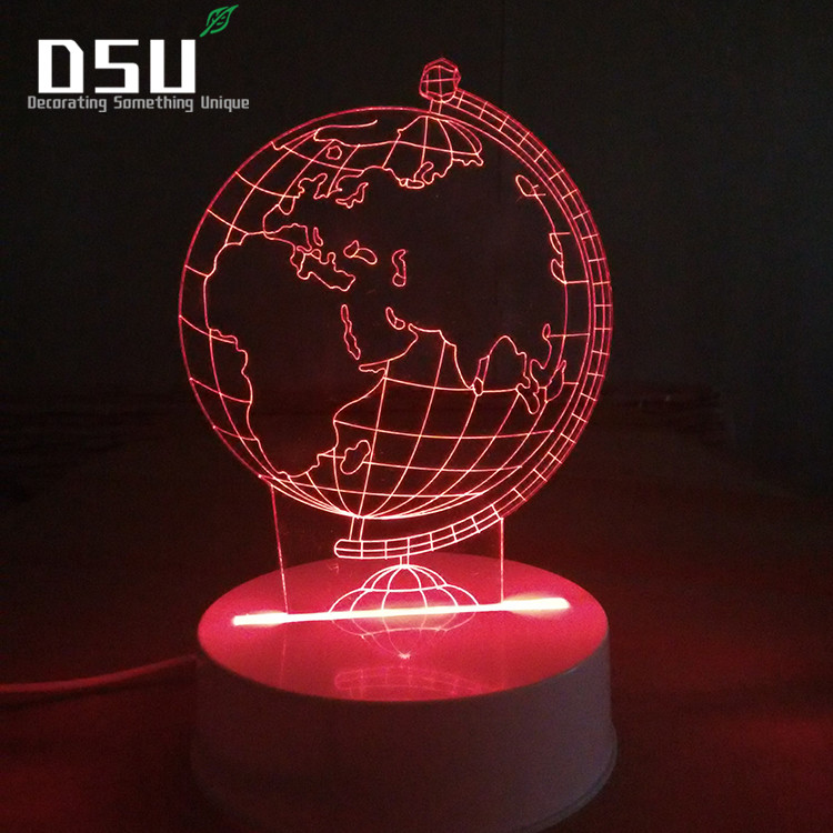 3D LED Night Light Globe Colorful Desk Stereo Lights USB Power Lights with Remote Control image