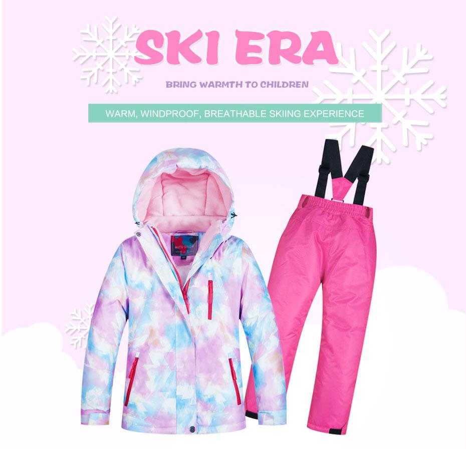 81b3c2630b4f 2019 Kids Ski Suit Children Brands Windproof Waterproof Warm Girls ...
