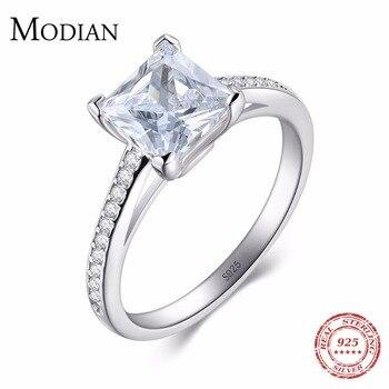 Damski srebrny pierścionek MODIAN z cyrkoniami