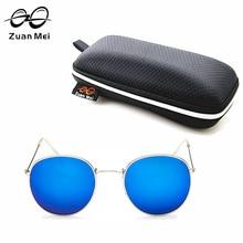 2017 Ronda de Aleación de UV400 gafas de Sol de Las Mujeres Zuan Mei Marca Diseñador Gafas De Sol Feminino Gafas de Sol Para Las Mujeres ZM3447